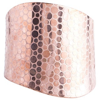 Copper Tone Brass Cuff Bracelet (India)