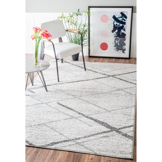 nuLOOM Contemporary Striped Grey Rug (7'6 x 9'6) (As Is Item)