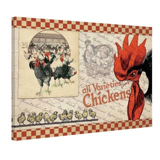 Marmont Hill 'Check Chicken' Painting Print on Canvas