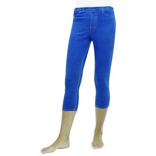Memoi Women's Real Denim Capri