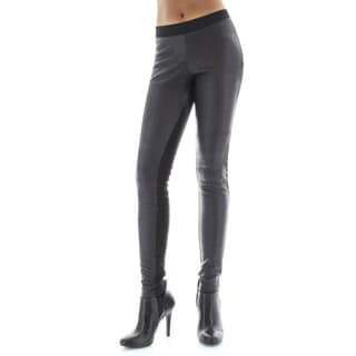 Memoi Women's Pleather Chic Leggings