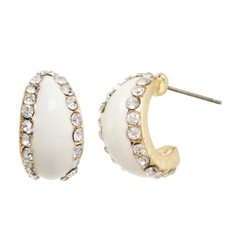 Alexa Starr Stone and Epoxy Small Hoop Earrings