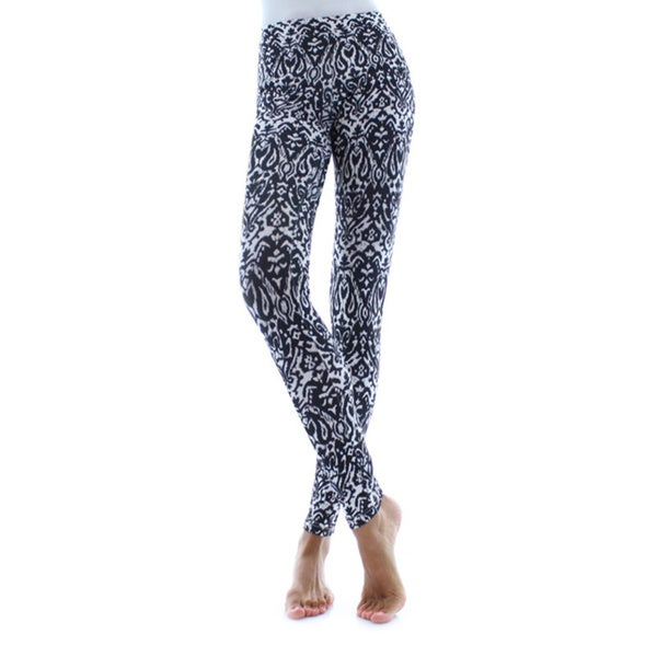 5198233c0 Shop Memoi Women s Exotic Drop Leggings - On Sale - Free Shipping On Orders  Over  45 - Overstock.com - 11160786