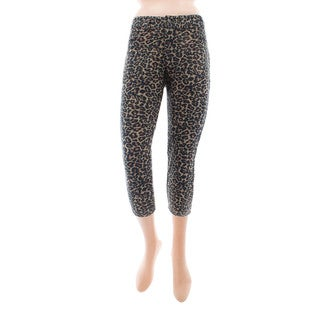 Memoi Women's Dark Leopard Leggings