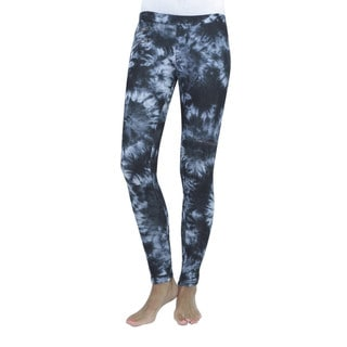 Memoi Women's Zip Dye Leggings