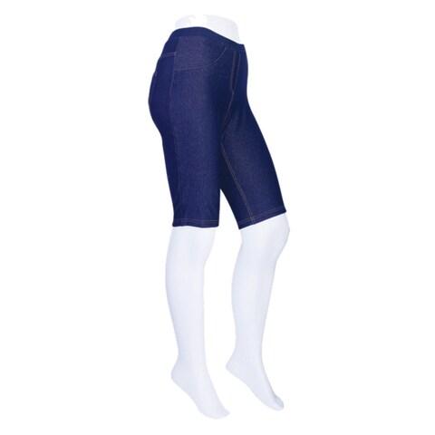 Memoi Women's Denim Bike Shorts