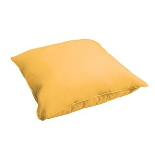 Sloane Butter Yellow 26-inch Indoor/ Outdoor Corded Floor Pillow