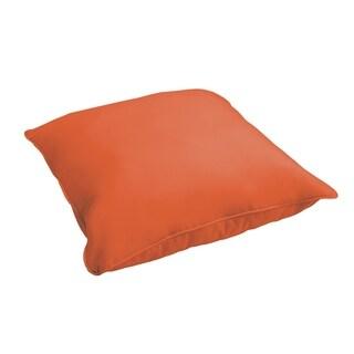 Sloane Mandarin Orange 26-inch Indoor/ Outdoor Corded Floor Pillow
