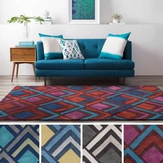 Hand Tufted Glenwood Polyester Rug (3'6 x 5'6)