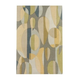 Hand Tufted Hana Wool Area Rug (5 x 8 - Black)