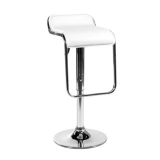 Furgus 23.6-32.5-inch Adjustbable Bar/ Counter Stool, White/ Chrome