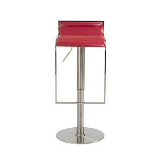 Forest 20.1-30-inch Adjustbable Bar/ Counter Stool, Red Leather