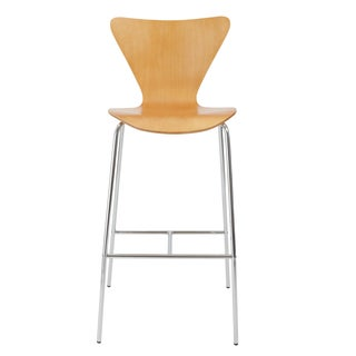 Tendy-B Natural/ Chrome Bar Stool (Set of 2)