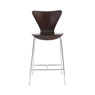 Tendy-C Wenge/ Chrome Counter Stool (Set of 2)