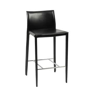 Shen 26-inch Black/ Chrome Counter Stool (Set of 2)