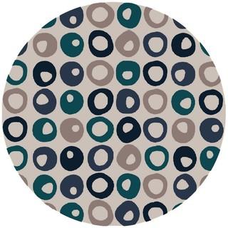 Hand Tufted Greene Polyester Rug (8' Round)