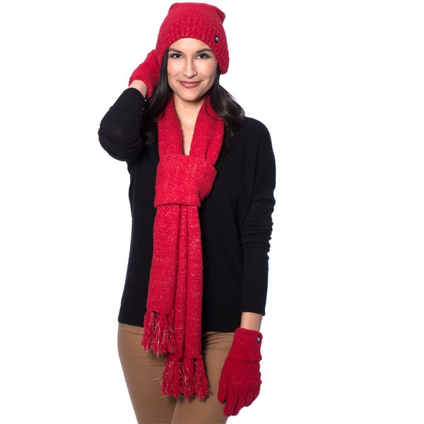 Shop Aegean Apparel Women S Winter Sparkle Scarf Hat And