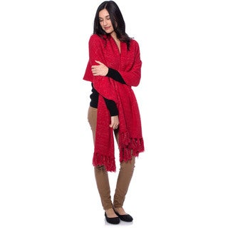 Aegean Apparel Women's Cozy Sparkle Blanketwrap and Socks Gift Set (Option: Red)