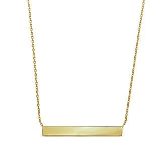 Eternally Haute 14k Yellow Goldplated Minimalist Bar Necklace