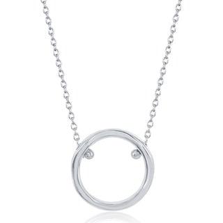 La Preciosa Sterling Silver Open Circle Necklace