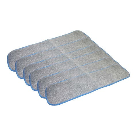 6pk Replacement Microfiber Mop Pads, Fits Bona Mops, Washable & Reusable, Compatible with Part AX0003053
