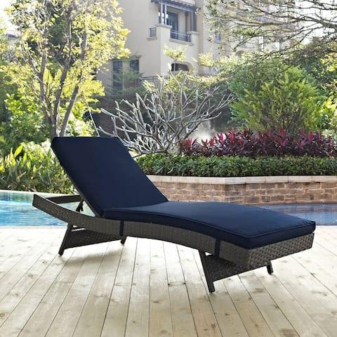 Modway Summon Rattan Outdoor Patio Chaise
