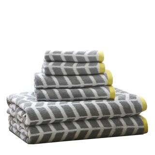 Intelligent Design Laila Cotton 6-Piece Jacquard Towel Set
