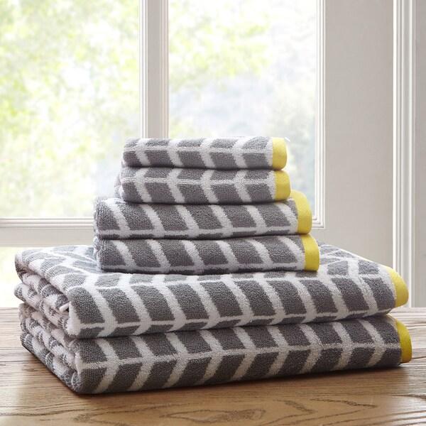 Intelligent Design Laila Cotton Jacquard 6-piece Towel Set
