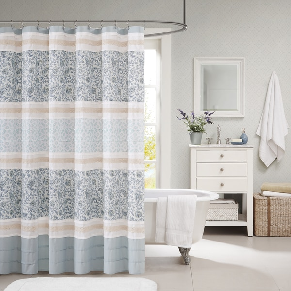 Madison Park Vanessa Cotton Shower Curtain Free Shipping