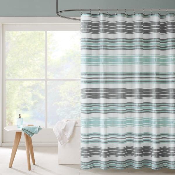 Intelligent Design Sonia Puckering Yarn dyed Stripe Shower