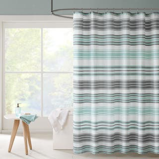 Intelligent Design Sonia Puckering Yarn-dyed Stripe Shower Curtains|https://ak1.ostkcdn.com/images/products/11161339/P18156916.jpg?impolicy=medium