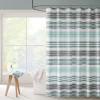 Carson Carrington Solleftea Puckering Yarn-dyed Stripe Shower Curtain