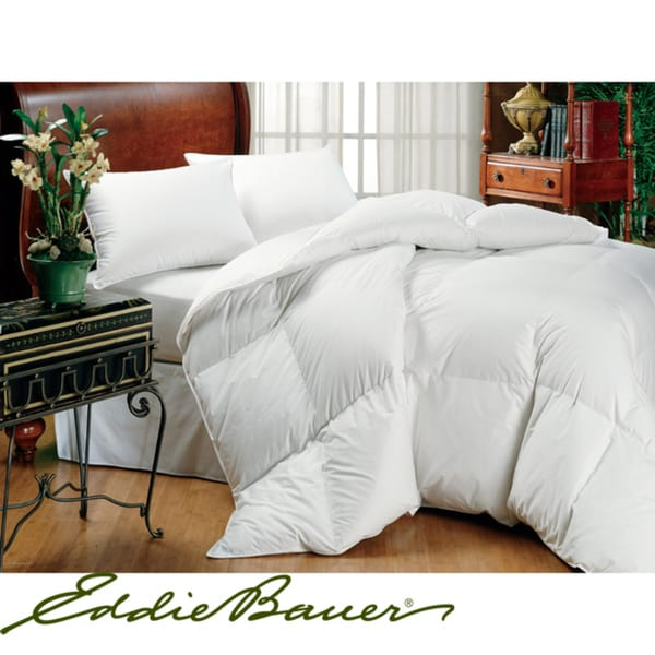 shop eddie bauer 600 fill power white goose down california king size comforter as is item. Black Bedroom Furniture Sets. Home Design Ideas