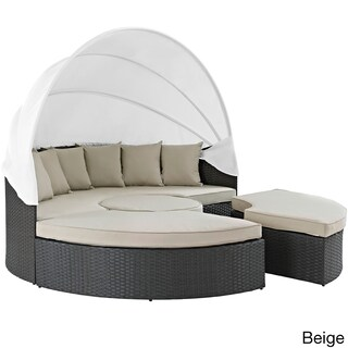Modway Stopover Rattan Outdoor Patio Daybed and Ottoman Set (2 options available)
