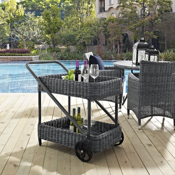 Modway Invite Outdoor Patio Beverage Cart