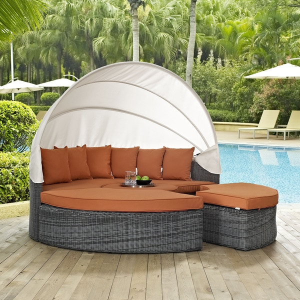 outdoor daybed with canopy shop summon canopy outdoor patio daybed on free 31333