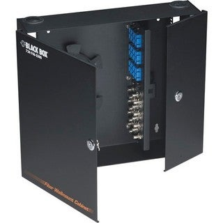 Black Box Fiber Wall Cabinet, Unloaded, Lock-Style 24-Port (Accepts 4