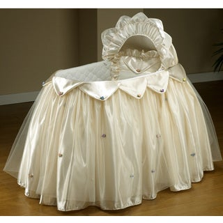 Cream Satin / Tulle Infant Bassinet Set