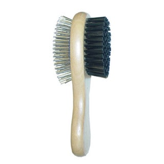 Best In Show Wooden Grooming Tools Large 2-in-1 Brush