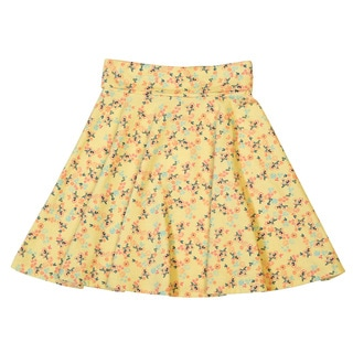 DownEast Basics Girls' Floral Above The Knee Pull On Skirt