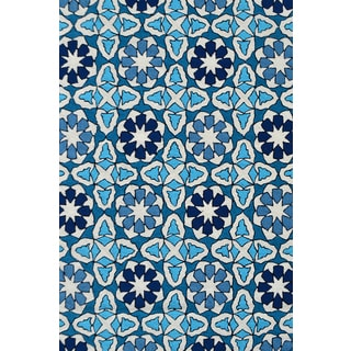 Handmade UV Polyester Mosaic Rug (5' x 8')