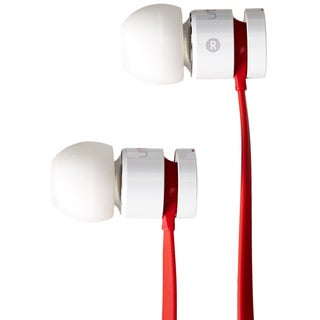 Reconditioned Beats Urbeats In Ear Earbud Headphones with Mic- White/Red