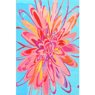 Handmade UV Polyester Blossom Flower Rug (5' x 8')