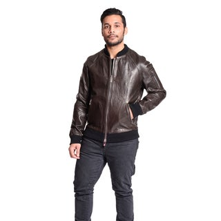 Excelled Men's Leather Baseball Jacket
