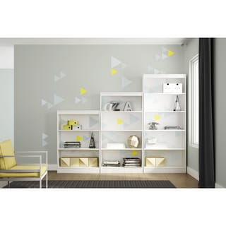 South Shore Axess Bookcase with Funny Triangles Ottograff Decals