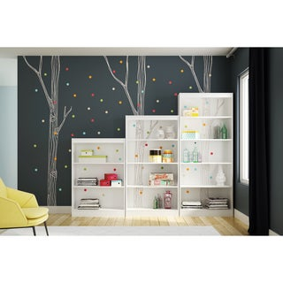 South Shore Axess Bookcase with Birch Tree and Colored Dots Ottograff Decals