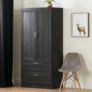 "South Shore Acapella Wardrobe Armoire - 35.5""w x 19.5""d x 71.25""h"