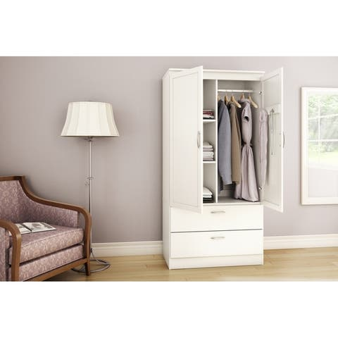 Buy WHITE Armoires & Wardrobe Closets Online at Overstock ...