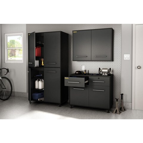 South Shore Black Karbon Storage Cabinet