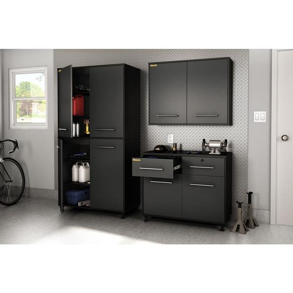 South Shore Black Karbon Storage Cabinet
